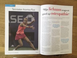 Osteopathie helpt Arantxa Rus bij tennis blessures